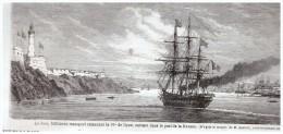 GRAVURE D Epoque    1865...bateau Le Jura    Port De La Havane     Cuba - Sin Clasificación
