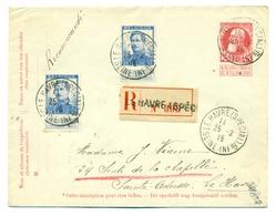 Belgique - COB 120 X 2 Sur Lettre Préaffranchie 10c De Le Havre Special Vers Sainte-Adresse 25 Février 1915 - 1912 Pellens