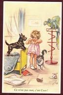 """Illustratrice Germaine Bouret  """" Ce N'est Pas Moi C'est Coco """" Fille Perroquet Chien Chat Enfant  * Séphériadès 8 - Bouret, Germaine"""