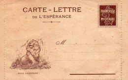 """CL De L'Espérance - """" Nous Vaicrons  """" - ( ES  21)- Simili Timbres-Médaillon Joffre- - Marcophilie (Lettres)"""