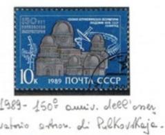 URSS - SG 6022   - 1989  PULKOVO OBSERVATORY    - USED° - RIF. CP - Usati