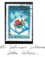 URSS - SG 6023   - 1989  INT. LETTER WEEK    - USED° - RIF. CP - Usati