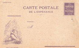 """CP De L'Espérance - """" Haut Les Cœurs !   """" - ( ES  23 ) - Simili Timbre:Semeuse- - Marcophilie (Lettres)"""