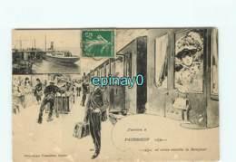 44 - J'arrive à PAIMBOEUF Et Vous Envoie Le Bonjour - Mindin - Train - Chemin De Fer - Paimboeuf