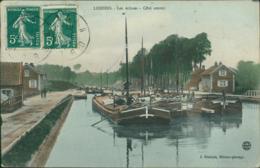 02 LESDINS / Les Ecluses Cote Amont / Carte Couleur J. Ghislain éditeur - Altri Comuni