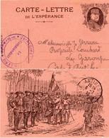 """CL De L'Espérance - """" En Alsace Récompenses Méritées  !   """" - ( ES  25 ) - Simili Timbre:Joffre - Marcophilie (Lettres)"""