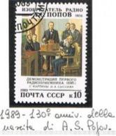 URSS - SG 6044   - 1989 A.S. POPOV, RADIO PIONEER   - USED° - RIF. CP - Usati