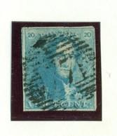 Belgique - COB 2 P77 Maeseyck - 1849 Schulterklappen