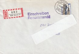 Deutschland. Brief Mit Briefmarke Und Stempel. 1990. Externsteine Horn-Bad Meinberg. Einschreiben. - Archäologie