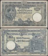 Belgique - Billet 100Fr - 25.09.28  (VG) DC-5483 - 100 Franchi & 100 Franchi-20 Belgas