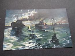 Guerre ( 664 )  Oorlog 1914 - 1918  Die Blockade Englands - Unterseeboote  Onderzeeboot - Guerre 1914-18