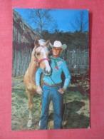 Sam Keen With His Famous Trick Horse  Aquarena   San Marcos Texas> Ref 3822 - Caballos