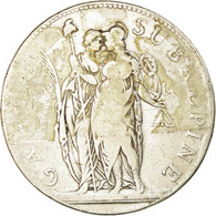 Monnaie, États Italiens, PIEDMONT REPUBLIC, 5 Francs, 1801, Turin, B+, Argent - Monedas Regionales