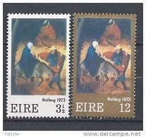 Irlande 1973 N°298/299 Neufs **Noël - 1949-... República Irlandése