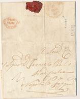 1859 REGNO DI NAPOLI LETTERA  PREFILATELICA DA FILETTE AQUILA X FOGGIA VIA NAPOLI TASAS 3 - 1. ...-1850 Prephilately