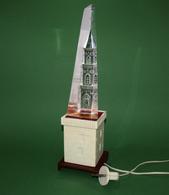 LAMP KREMLIN Spasskaya Tower - Night Light - 1960-70 USSR Soviet Union 33 Cm - Rauchverzehrer Veilleuse Lampe - WORKING - Luminaires