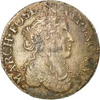 Monnaie, Italie, Maria Maddalena, Luigino, 1669, Fosdinovo, TB+, Argent - Regional Coins