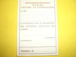TESSERA FEDERAZIONE ITALIANA CONTRO LA TUBERCOLOSI - Old Paper
