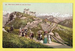 * Rigi Kulm - Genève (Switserland - Suisse - Schweiz) * (Edition Photoglob, Nr 251) 1800 Mètres, Die Alpen, Animée, TOP - GE Genève