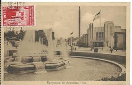 BRUXELLES   ( BELGIQUE ) EXPOSITION DE BRUXELLES 1935 - Universal Exhibitions