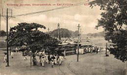 INDIA // INDE. CALCUTTA TRAMWAY JUNCTION DHURRUMTOLLAH - Inde