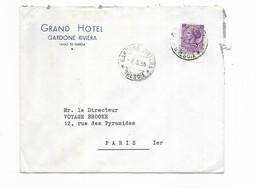 1955 ITALIE GRAND HOTEL GARDONE RIVIERA - Marcophilie - EMA (Empreintes Machines)