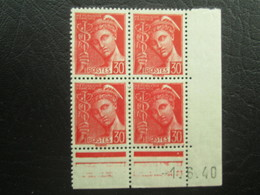 Type Mercure N°412 COIN DATE TTB - 1940-1949