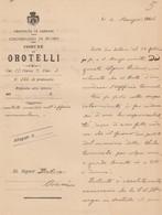 Orotelli. 1906. Nota Informativa Dal Cancelliere Comunale Di OROTELLI Al Pretore Di ORANI - Documenti Storici