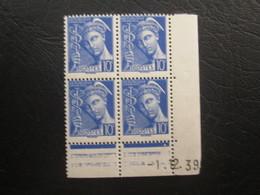 Type Mercure N°407 COIN DATE TTB - 1940-1949