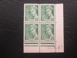 Type Mercure N°414B  COIN DATE TTB - 1940-1949