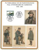 Z0005 - WAPENSTILSTAND - L'ARMISTICE - 1918-1993 - Militaires (Timbres M)