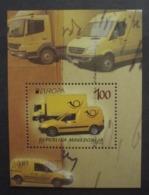 Makedonien     Europa  Cept   Postfahrzeuge Block     2013 ** - 2013