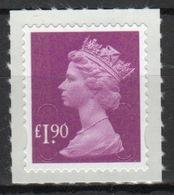 Great Britain 2012 Decimal Machin £1.90p With Date Code Self Adhesive Définitive Stamp. - 1952-.... (Elizabeth II)
