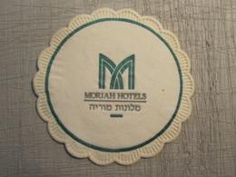 ISRAEL HOTEL MORIAH JERUSALEM DOLLEY MAT COASTER TOURISM ORIGINAL - Hotel Labels
