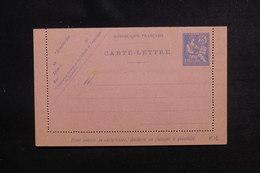 FRANCE - Entier Postal Type Mouchon Retouché 25c Bleu ( Carte Lettre ) Non Circulé - L 50688 - Entiers Postaux