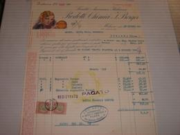 FATTURA PRODOTTI CHIMICI J.BERGER MILANO  1930 - Italie