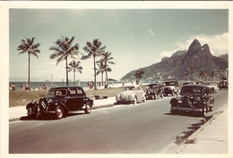 Nice Brasilian Photo, Ipanema Beach, Rio De Janeiro, Old French Traction Citroen, Ca 1950, Brazil - Luoghi