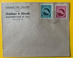 9842 -  2 Timbres Grosser Preis Von Wien 1944 Sur Enveloppe Tuchfabrik Goellener & Hirsch Bischweiler U.Elsass 29.08.44 - Briefe U. Dokumente