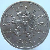 LaZooRo: Czechoslovakia 50 Haler 1922 UNC - Tchécoslovaquie