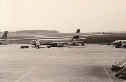 Photo Originale Avion Aviation Boeing 737-329 Austrian Airlines Zaventem 1969 - Aviation
