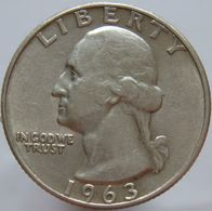 LaZooRo: United States Of America 25 Cents 1963 D XF / UNC - Silver - Federal Issues