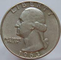 LaZooRo: United States Of America 25 Cents 1963 D XF / UNC - Silver - Emissioni Federali