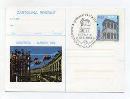 """Italia - 1984 - Cartolina Postale  """" Manifestazione Filatelica Nazionale PICENA 84""""  - Con Annullo - (FDC19242) - 6. 1946-.. Repubblica"""