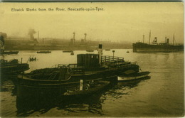 UK - ELSWICK WORKS FROM THE RIVER - NEWCASTLE UPON TYNE - 1910s/20s (6987) - Inghilterra