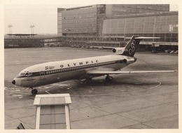 Photo Originale Avion Aviation Boeing 727-284 Olympic à Zaventem 1979 - Aviation