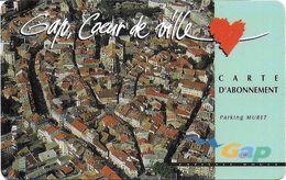 CARTE DE STATIONNEMENT BANDE MAGNÉTIQUE VILLE DE GAP  05 HAUTES-ALPES CŒUR DE VILLE - Francia