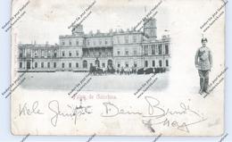 RU 190000 SANKT PETERSBURG, Palais De Gatschina, 1901, Nummernstempel, In Die USA, Verlag Stengel - Russland