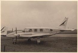 Photo Originale Format CP Avion Aviation Cessna PA-31 Navajo Gosselies 1967 - Aviación