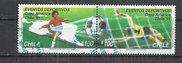 CHILE 1991 - AMERICAN FOOTBALL CUP - CPL. SET - SE-TENANT - POSTALLY USED OBLITERE GESTEMPELT USADO - Fußball-Amerikameisterschaft