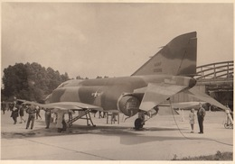 Photo Originale Format CP Avion Aviation Mc Donnel F-4C Phantom II Beauvechain 1966 - Aviación